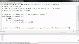 Defining a Factorial Function