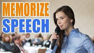 📝 How to Memorize a Speech and Poem Lines Easily   Public Speaking Presentation Skills Techniques