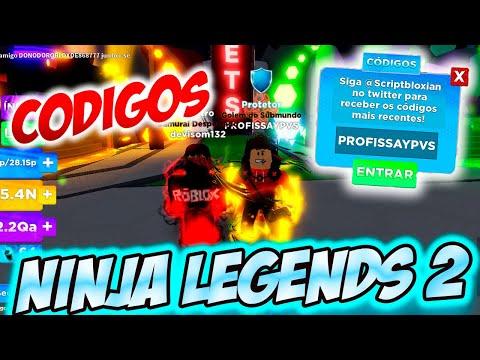 ROBLOX Ninja Legends 2  MAIS CDIGOS NOVOS | Junho de 2021