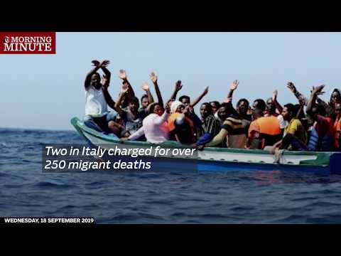 Two in Italy charged for over 250 migrant deaths