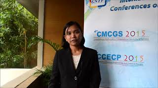 Ms. Julie Anne Del Rosario at CCECP Conference 2015 by GSTF Singapore