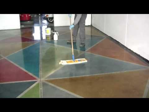 How to polish concrete floors with Klindex