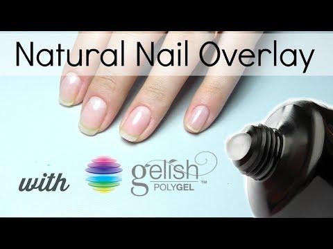 PolyGel overlay on Natural Nails