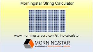 Morningstar String Calculator