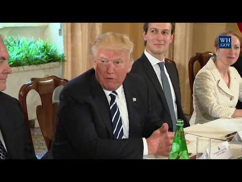 President Trump participates in a bilateral meeting with Prime Minister Paolo Gentiloni of Italy