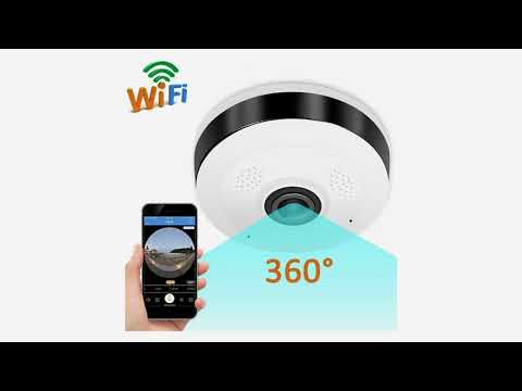 GBD IP Camera 360 Degree Panoramic Fisheye 3D VR Wireless Wifi 2.4GHZ Home Security Cam...