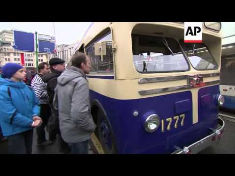 Moscow celebrates 80th anniversary of trolley buses