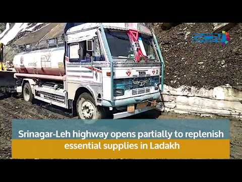 Srinagar-Leh highway opens partially to replenish essential supplies in Ladakh