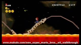 New Super Mario Bros. Wii Walkthrough - World 8-7