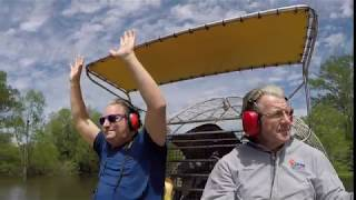 Airboat in the Louisiana Swamp!