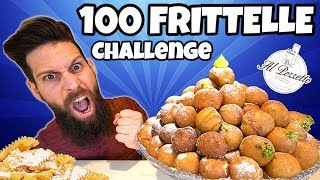 100 FRITTELLE CHALLENGE (Con rinforzo di CHIACCHIERE) - CARNEVALE Cheat day - MAN VS FOOD