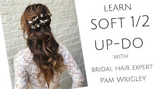 Half Up Half Down Bridal & Bridesmaid Soft Waves/curls Hairstyle With Braids