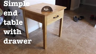 Basic End Table With Drawer | How-to