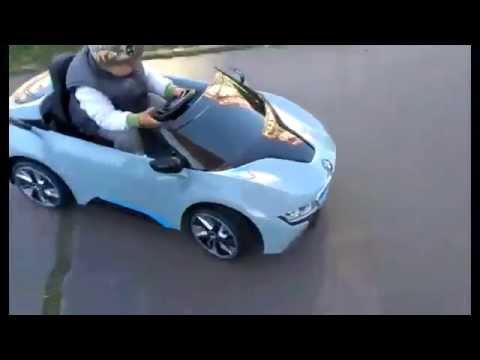 bmw i8 kinderauto 12v 2 4g rc blauw. Black Bedroom Furniture Sets. Home Design Ideas