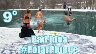 INSANE POLAR PLUNGE SNOW CHALLENGE! (Polar Bear Plunge Snow Challenge First Swim of the Year 2017)