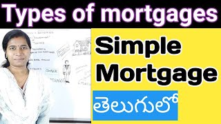 simple mortgage loan types of mortgages in telugu by advocate sowjanya Hyderabad