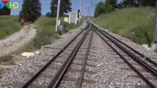 Dampfzug-Führerstandsmitfahrt auf der Vitznau-Rigi-Bahn - Bergfahrt - Vorstellwagen C11 [HD]