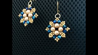 Wow Earrings. DIY Beaded Earrings.Easy Tutorial