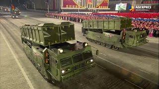 Coreea de Nord: Paradă militară cu prezentarea unui nou model de rachetă balistică