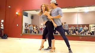 Mike Zuniga and Jennifer Silvas Bachata Class Demo (Orange County)