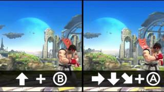 Super Smash Bros - Ryu Moves and Stage Overview!