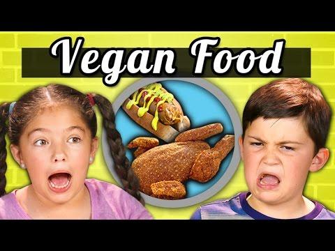 KIDS EAT VEGAN FOOD! (Vegan Shrimp, Chicken, Ice Cream)|Kids Vs. Food