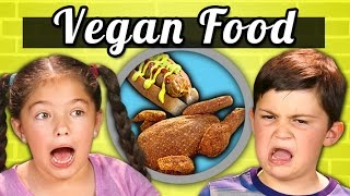 KIDS EAT VEGAN FOOD! (Vegan Shrimp, Chicken, Ice Cream) | Kids Vs. Food