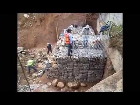 Construcción de Muro Gavión Paso a Paso