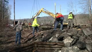 A Calhoun County Bridge Being Relocated