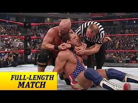 FULL-LENGTH MATCH - Raw - Kurt Angle vs. Steve Austin - WWE Championship Match