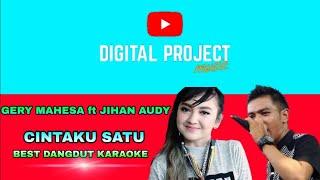 Gery Mahesa Ft. Jihan Audy - Cintaku Satu ( Karaoke )