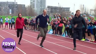Duchess Kate Takes On Prince Harry And William In Royal Relay