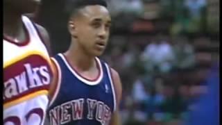 1991 Dec 7 Nba Hawks vs Knicks D wiikins 52 pts