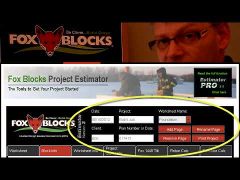 Fox Block Estimating_On Line Version Insulated Concrete Form takeoffs.wmv