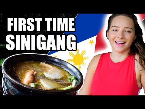 Foreigners Eat SINIGANG for the First Time! Taste Reaction!