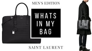 Mens Whats In My Bag - Saint Laurent Museum Briefcase!