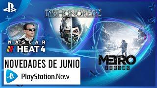 PlayStation Lo NUEVO de PS NOW en JUNIO - Metro Exodus, Dishonored 2 y Nascar Heat 4  anuncio