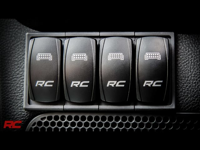 Rough Country Rocker Switch Housing Kit for 4 Rocker Switches - Black  Plastic