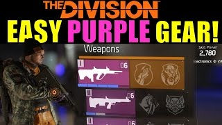 The Division: EASY PURPLE GEAR! | Superior Weapon & Armor Crafting!
