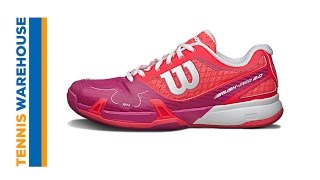 Wilson Rush Pro 2.0 Women's Shoes Neon Red/Pink video