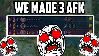 We Made 3 Enemies RAGE QUITAFK In 4 Minutes!   League Of Legends