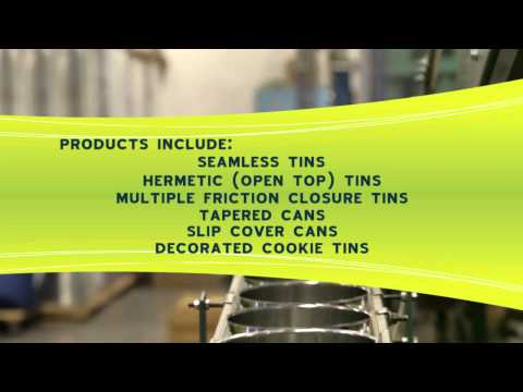 Video of the company Metal tins sold by Allstate Can
