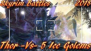 Skyrim Battles - TEASER - Thor vs 5 Ice Golems Teaser Video