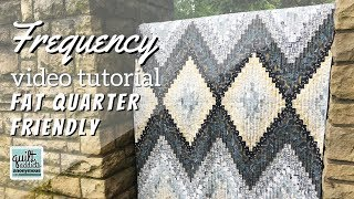 Modern Bargello Quilt Tutorial Using Fat Quarters! Watch How To Make Frequency