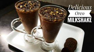 Oreo Milkshake Recipe Make Oreo Milkshake In 2 Minutes Desert Oreo Milkshake Without Icecream