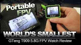 WORLD'S SMALLEST FPV Monitor - GTeng T909 5.8G FPV Watch