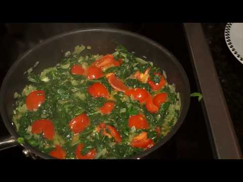 , title : 'Wilted Spinach with Tomatoes Step By Step Chef