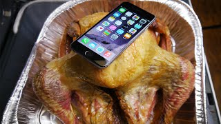 iPhone 6 Baked Inside Turkey for 4 Hours!
