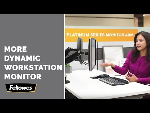 "Fellowes Platinum Series dual monitor arm (Table, 27"")"