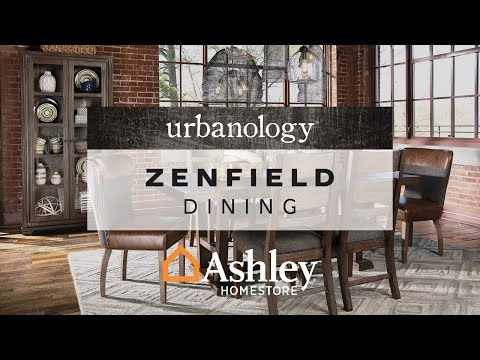 Medium Brown Zenfield Dining Room Server View 4 Video